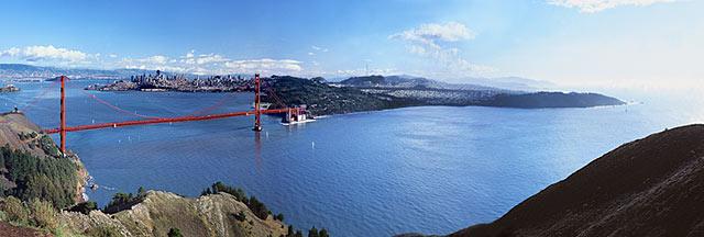 San Francisco Bay Panorama California Golden Gate Bridge Photo