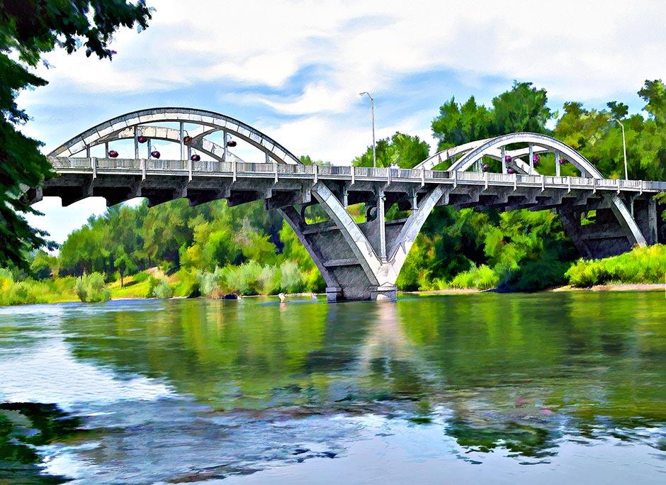 Caveman Arched Bridge Painting Grants Pass Rogue River