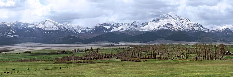 Panorama of Strawberry Mountain near Prairie City (Malheur National Forest) sold as framed photo or canvas