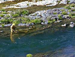 Fisherwoman on the Umpqua River-part of an Oregon panorama