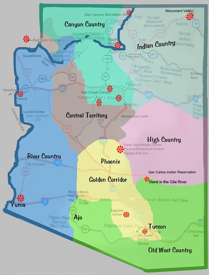 Show Map Of Arizona.Map Of Arizona Locations Of All Photos