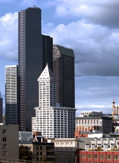 1985, 76 stories; Tallest Building in Seattle = Columbia Tower