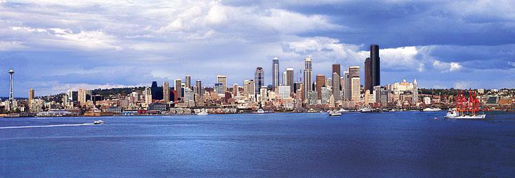 West Seattle Skyline From Alki