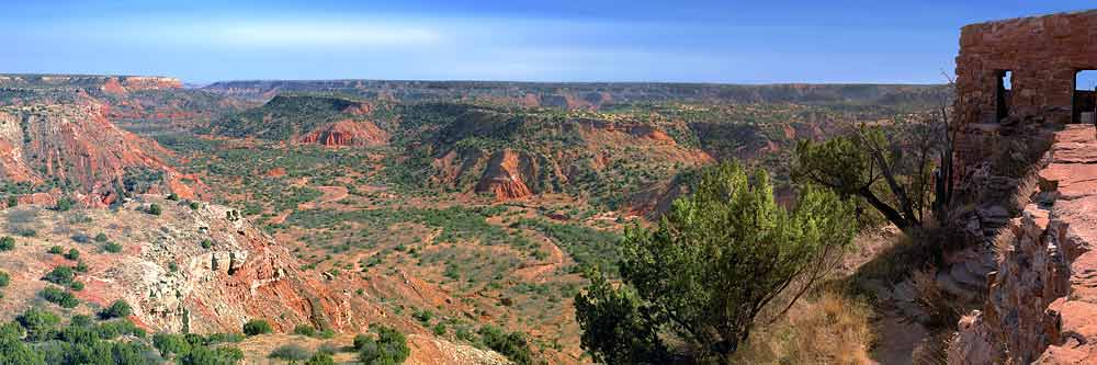 Texas Panorama: Palo Duro Canyon in the Panhandle is second only to Grand Canyon.  HUGE!